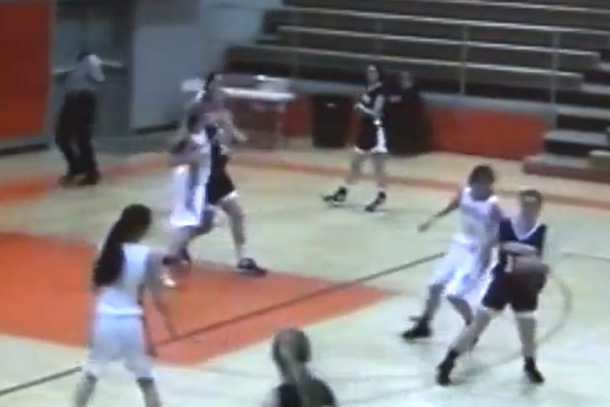 vicious elbow girls high school basketball