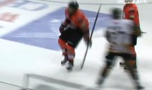 Check Out this Vicious Two-Handed Slash from a British Ice Hockey Game (Video)