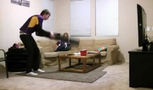 Vikings Fan Smashes Coffee Table During Loss to the Packers (Video)