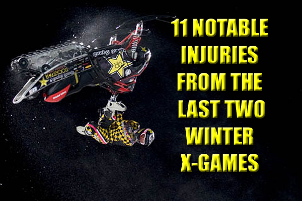 winter x-games injuries 2013