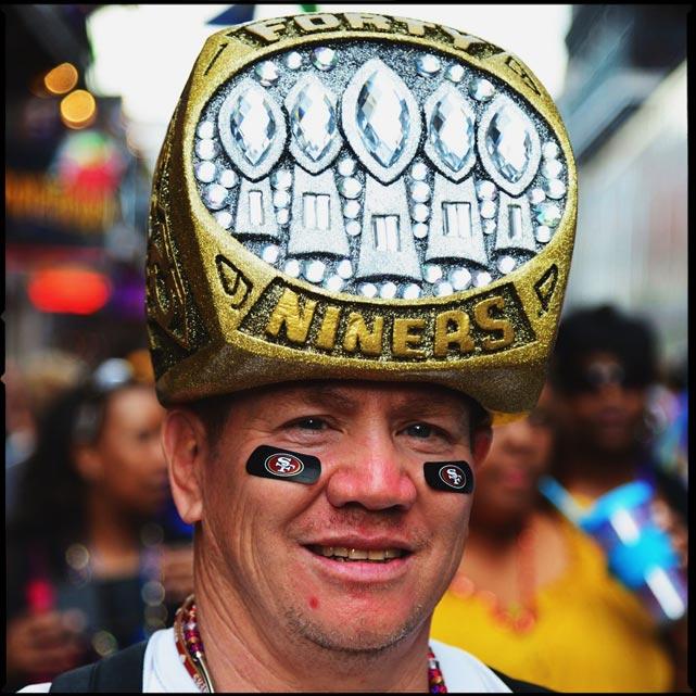 13 49ers super bowl ring hat - crazy super bowl xlvii fans