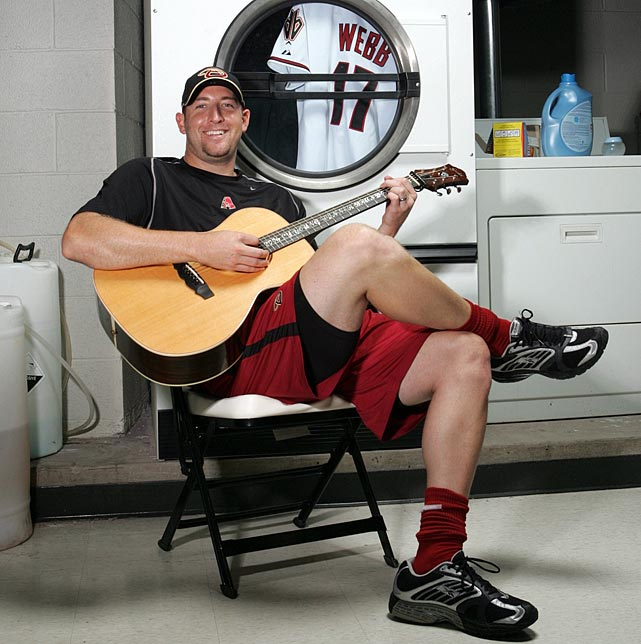 17 brandon webb playing guitar - athletes who were musicians
