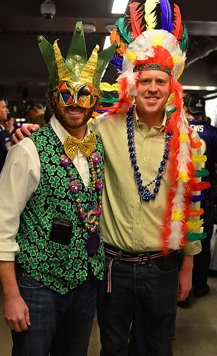 19 mardi gras outfits - crazy super bowl xlvii fans