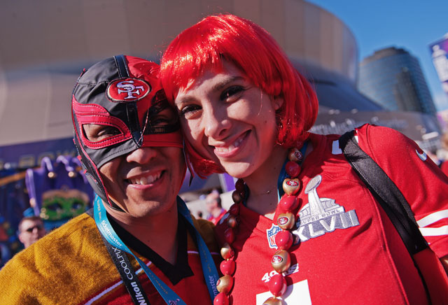 24 49ers fan in mexican wrestling mask - crazy super bowl xlvii fans