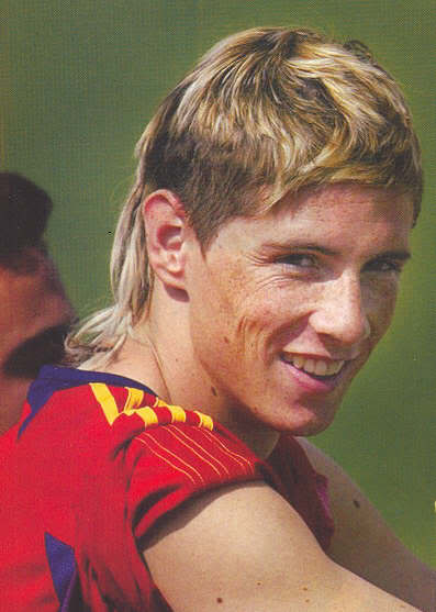 25 fernando torres - sports mullets