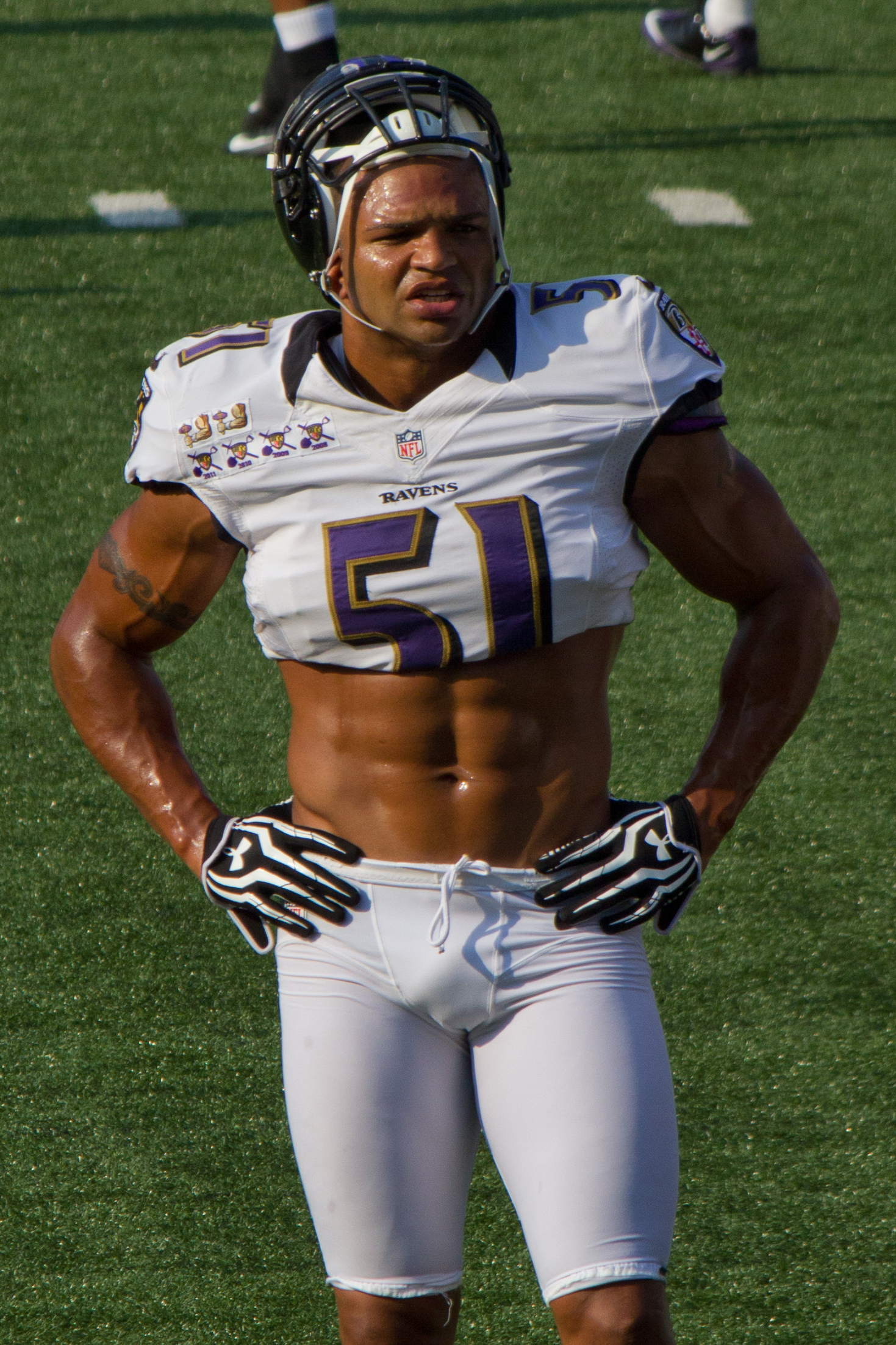 52 brendon ayanbadejo (ravens) - fittest bodies in sports