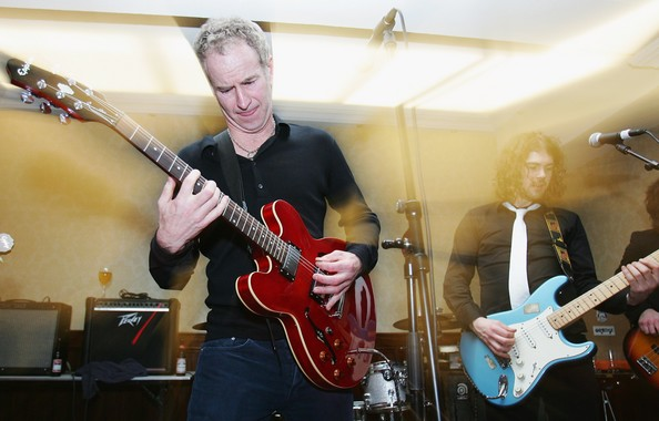 8 john mcenroe playing guitar - athletes who were musicians