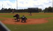 Giancarlo Stanton Hit in the Head by Pitch During Simulated Game (Video)