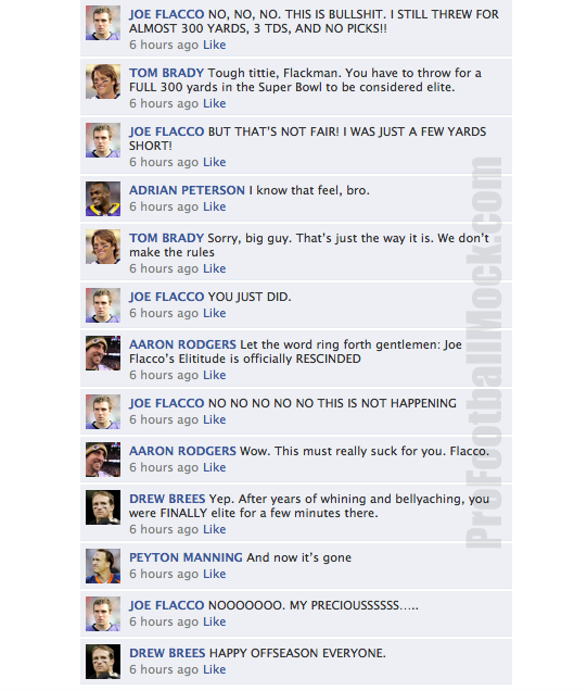 NFL Quarterbacks Convo on Facebook Super Bowl