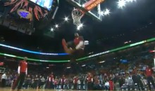 LeBron James Performs Another Ridiculous Dunk During Pre-Game Warmups (Video)