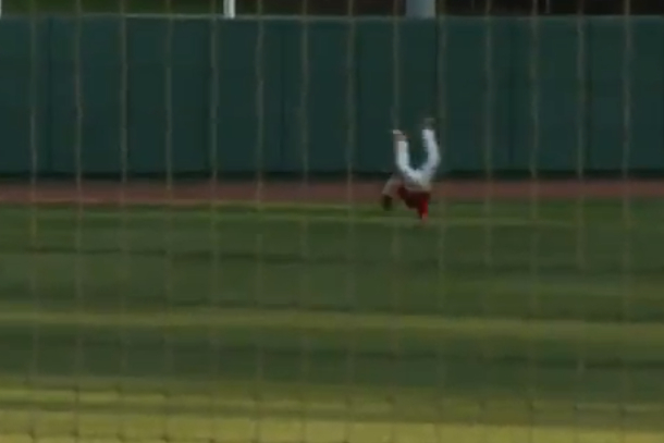 amazing baseball catch - nc state college baseball brett williams