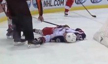 Blue Jackets' Artem Anisimov Knocked Unconscious Last Night in Detroit (Video)