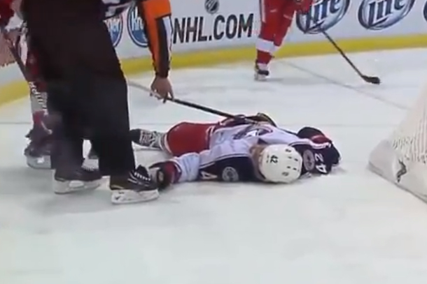 artem anisimov out cold nhl headshot