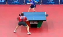 Behind-the-Back Table Tennis Shot Leaves Opponent in Disbelief (Video)