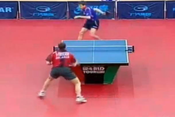 behind-the-back table tennis shot