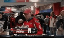 Caps Fan Performs Dirty Gesture for the Camera (GIF)