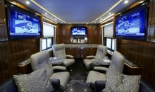 Dallas Cowboys' $2.5 Million Bus: 'The Elegant Lady' Features Tiffany Crystals, Marble Counters, Nine TVs (Gallery)