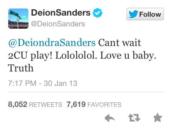 deion sanders tweet about daughter in bikini basketball