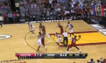 Dwyane Wade Hits LeBron James With a Touchdown Pass (Video)