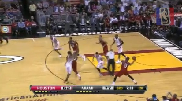 dwyane wade lebron james touchdown pass