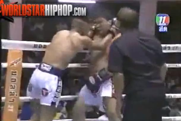 fake muay thai fight wwe