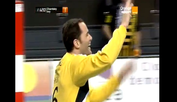 french handball keeper goal