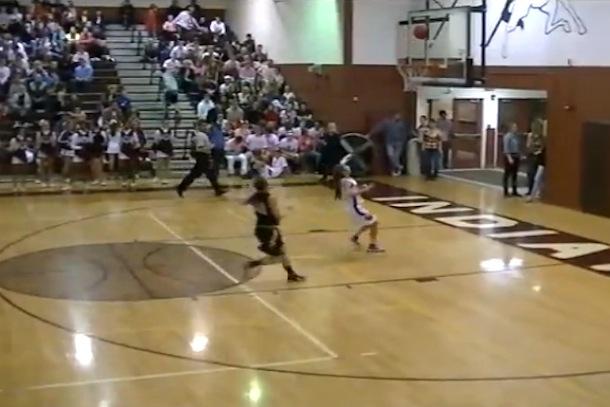 full-court bounce-shot buzzer-beater
