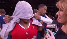 J.R. Smith Towel-Bombed Chris Paul Yesterday (Video)