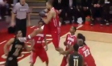 Illinois State's Jackie Carmichael Delivers a Karate Kick Rebound (Video)