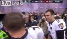 Super Bowl XLVII: Joe Flacco Drops F-Bomb on National TV (Video)