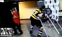 Junior Hockey Player Flips Out After Getting Hit from Behind (Video)