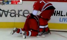 Celebration Fail: Cane's Jussi Jokinen Scores Goal, Takes a Spill (Video)