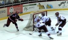 High School Hockey Player Scores Amazing Lacrosse-Style Goal (Video)
