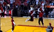 LeBron James Performs a 360°, Through-The-Legs, Off-The-Backboard Dunk in Warm-Ups (Video)