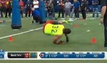 NFL Draft Combine: Manti Te'o Takes a Spill (Video)