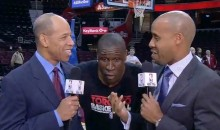 Toronto Raptors Comedian/Small Forward Mickael Pietrus Messes with Two NBA TV Analysts (Video)