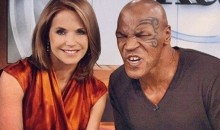 Mike Tyson Sat Down with Katie Couric Yesterday and Posed For This Pic