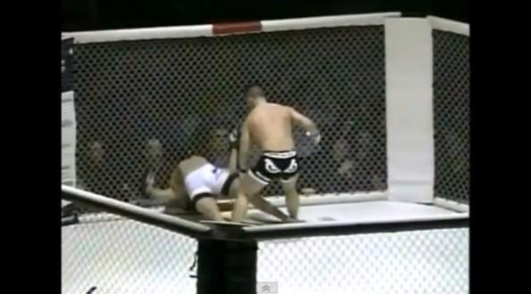 mma knockout bend over backwards