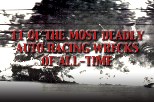 most deadly auto racing crashes wrecks all-time