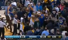 Brawl!: Pacers-Warriors Fight Spills Into Stands (Video)