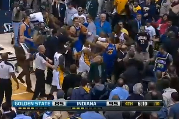 nba brawl golden state indiana
