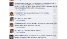 NFL Quarterbacks Conversation On Facebook (Foreshadowing)