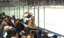 Fat Florida Panthers Fan Dancing Shirtless is Terrifying (Video)