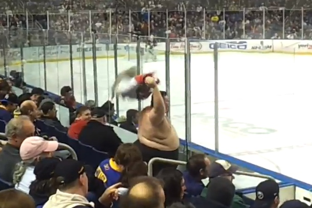 obese shirtless florida panthers fan goal celebration