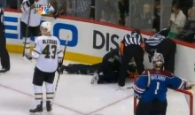 Two NHL Referees Took a Puck to the Face Last Night (Videos)
