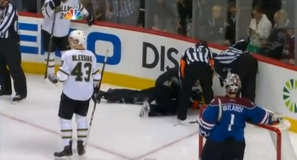 referee puck to the face