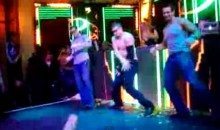 Rob Gronkowski Dancing Shirtless at XS Las Vegas Super Bowl XLVII Party (Video)