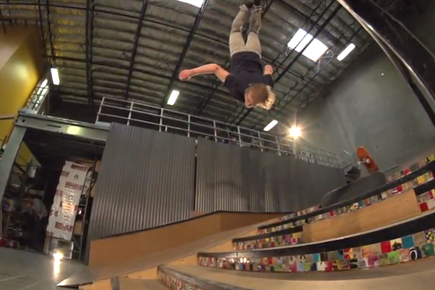 skateboard-to-skateboard gainer back flip adam miller