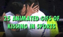25 Animated GIFs of Kissing in Sports