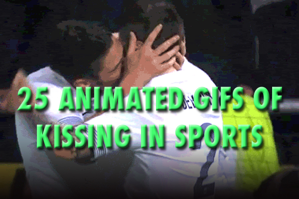 sports kissing gifs